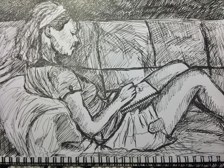 A sketch of a girl sketching ;)