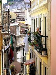 alleys and balconies of lisboa, Lisbon, Portugal