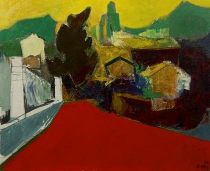 Wim  Oepts | 1904-1988 - Landschap Zuid-Frankrijk