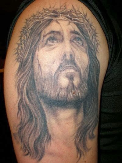 Best Jesus Tattoos on arms and shoulders