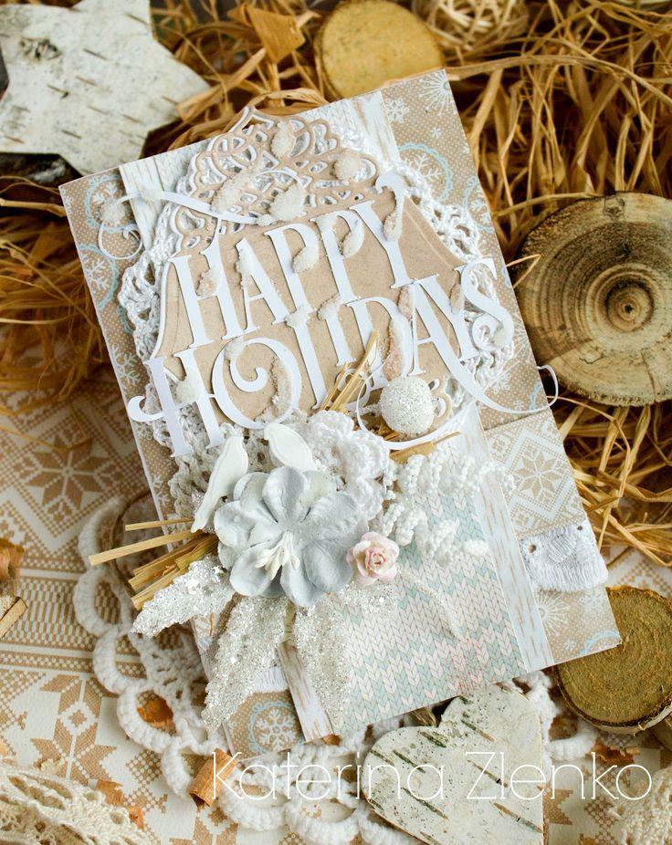 """Seasons Cards: МК """"Новогодняя открытка"""" от Катерины Зленко"""