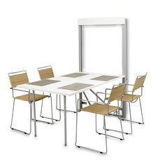 The Bata Murphy Table is a wall-mounted table that folds out to 61 inches in length.