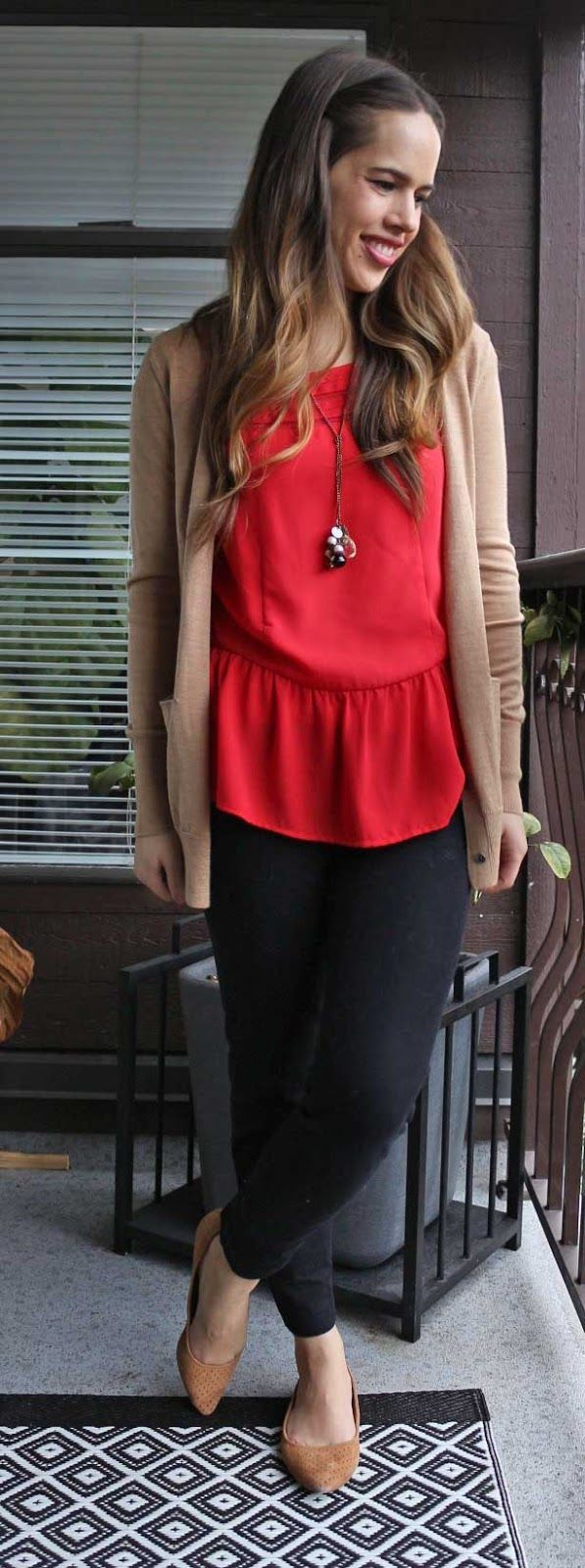 10 ways to wear a red top work outfit and look good