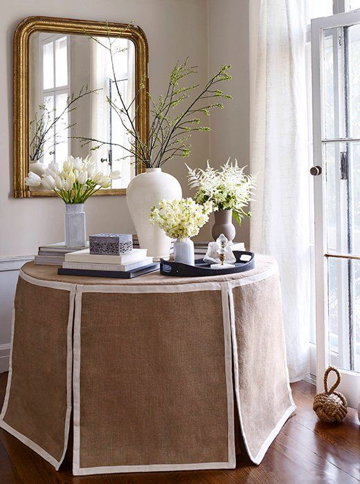 Shop the Skirted Tables and Learn Designer Tips for the Trend