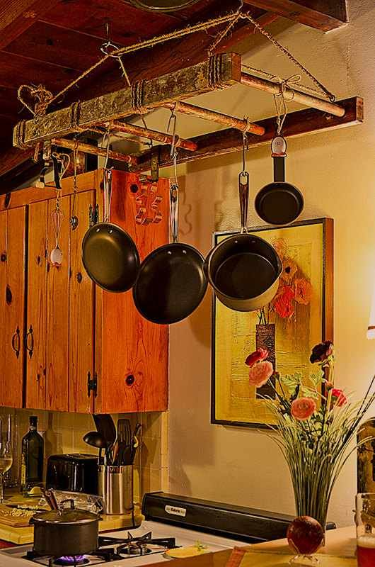 1000 images about ladder decor ideas on pinterest for Pot shelf decorating ideas