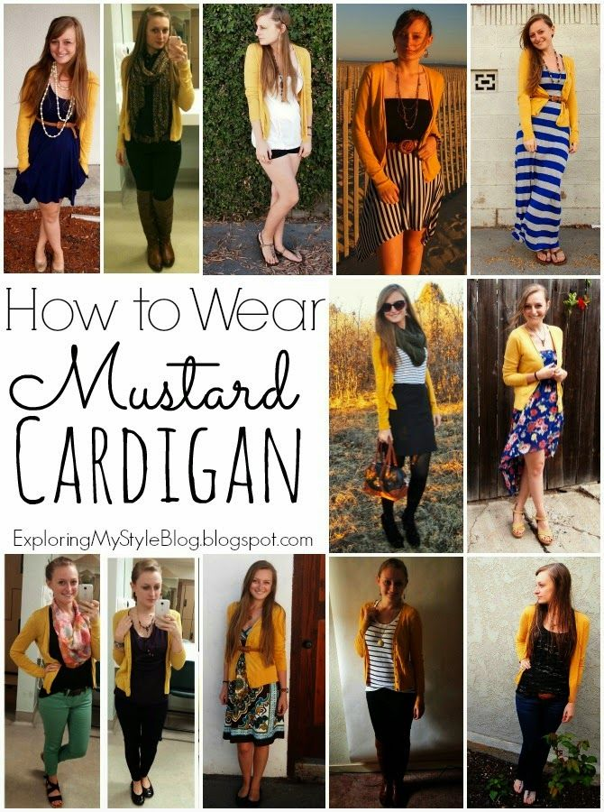 8dadd991cbe How to Wear a Mustard Cardigan  Mustard Cardigan 12 Ways! (Exploring My  Style)