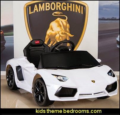 Lamborghini Aventador 6v Ride On Kids Battery Ed Car Beds Racing Theme Bedrooms Race Cars