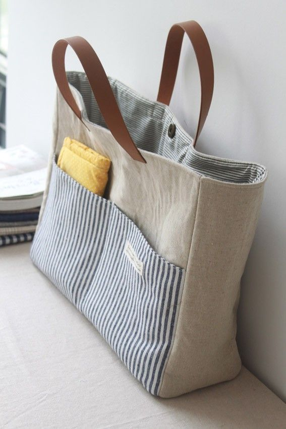 前面两个兜兜 手提包包 里面收纳方便…_来自doraxiaoyi的图片分享-堆糖网