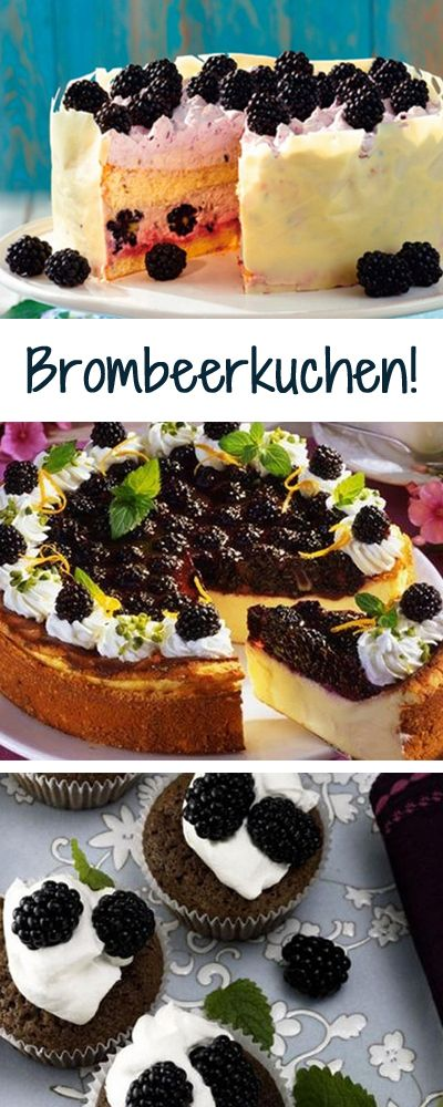 Brombeerkuchen für jeden Geschmack: http://www.bildderfrau.de/backschule/brombeerkuchen-d60416.html #kuchen #brombeeren