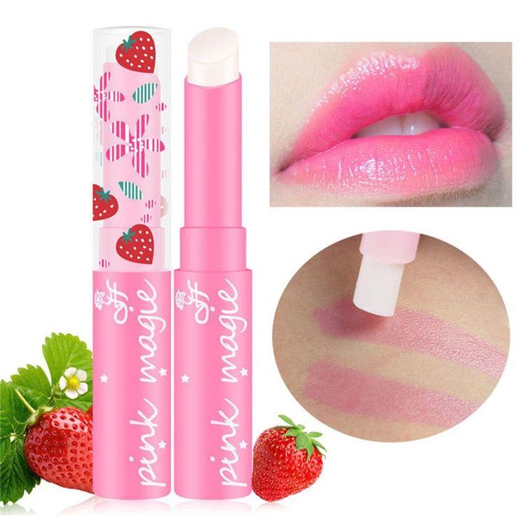Strawberry Temperature Changing Color Lipstick