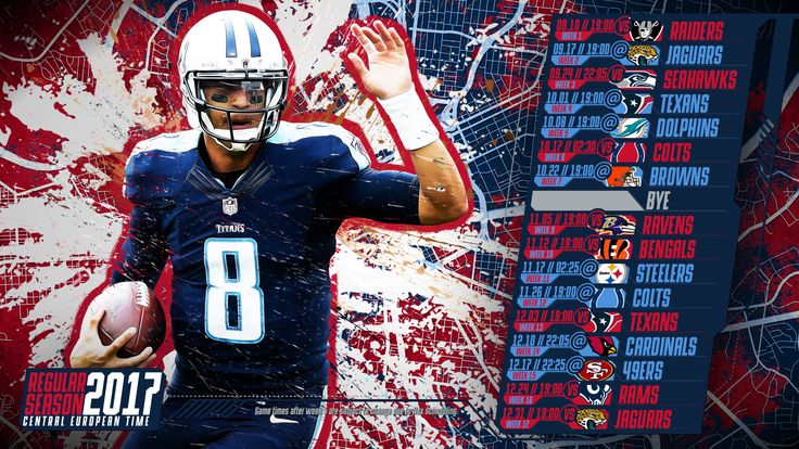 Schedule wallpaper for the Tennessee Titans Regular Season, 2017 Central European Time. Made by #tgersdiy