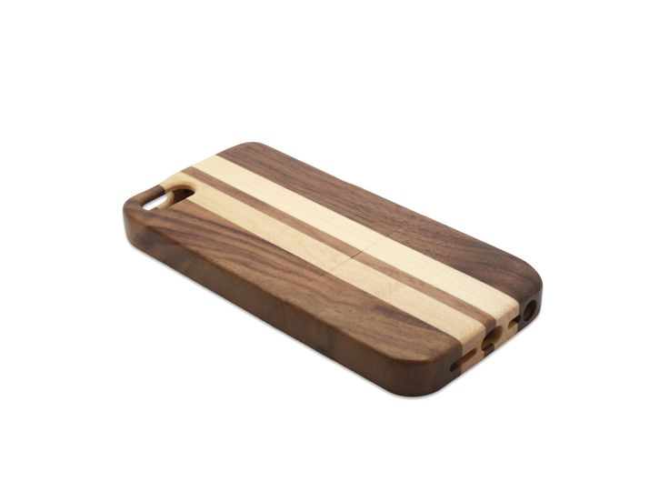 iPhone 5 and iPhone5S phone case in walnut and maple wood | Go Wood #iPhone5 #iPhone5S #phonecase #phone #woodphonecase #woodcase #maple #walnut