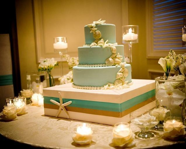 beach themed wedding cake table theme cake table by raise the cake bash event 11152