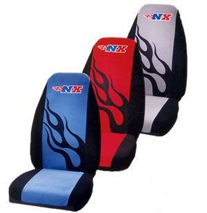 NX Universal Bucket Seat Cover - Red - Seat Covers are a fun and fashionable way to add some cheer and brighten your driving day. They also help keep you cool in the Summer or warm in the Winter. No more burnt buns from the sun or cold vinyl to sit on. This is an easy and convenient way to change your cars interior. Whether you are making a fashion statement or protecting your cars interior by covering up older worn seats, our seat covers will add a touch of elegance and pizzaz to your…