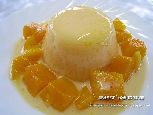 #Mango pudding. it was unbelievably easy to make.