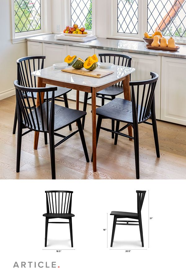 Rus Black Dining Chair Dining Chairs Compact Table And Chairs