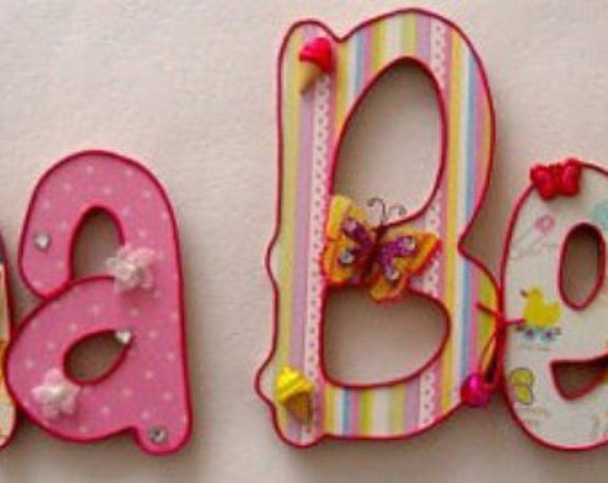 Bei nomi in legno per bambini (8 lettere)