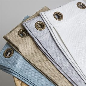 Faux Linen Grommet Drapery Panels: Duvet Cover Sets, Bamboo Sheets, Tencel Sheets, Bedding, Quilts & Linens, And More
