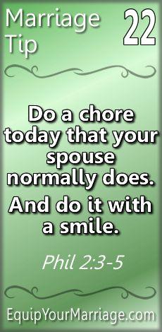 Phil. 2:12-18 DEVO—do chore (no complaining)  Sensible Marriage Ideas 22 – Do …