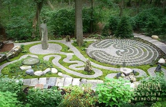Labyrinth garden has a spiritual element, theme of nature and a unique philosophy in every part. The pattern of circles and spiral-shaped labyrinth tells about the circle of life. In addition there are meditation spot that has a special cardinal points harmony / on TTL Design
