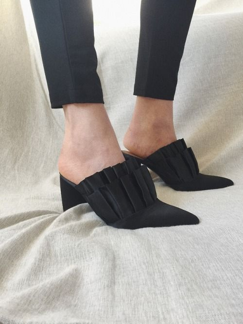& Other Stories Satin Mules