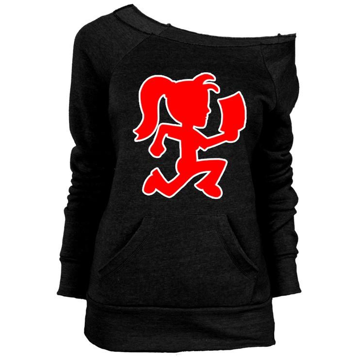 Off The Shoulder Sweatshirt - Psychopathic - Hatchet Girl - Black This is super cute