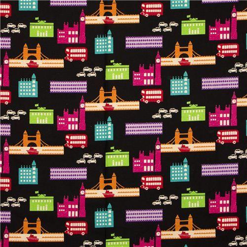 echino canvas designer fabric London black from Japan 2