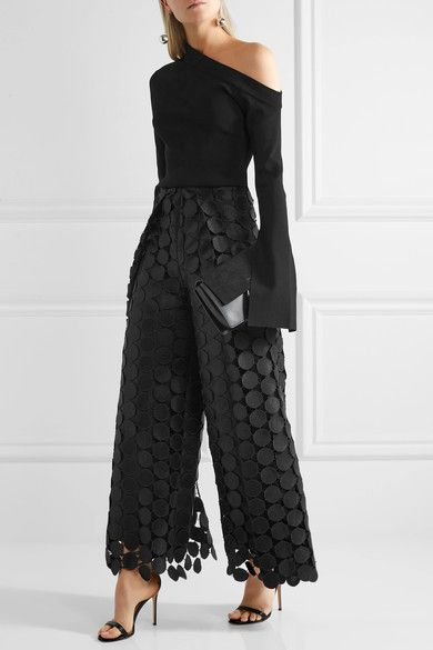 Black lace  Concealed hook and zip fastening at back  100% polyester; lining: 55% polyester, 45% cotton Dry clean Imported