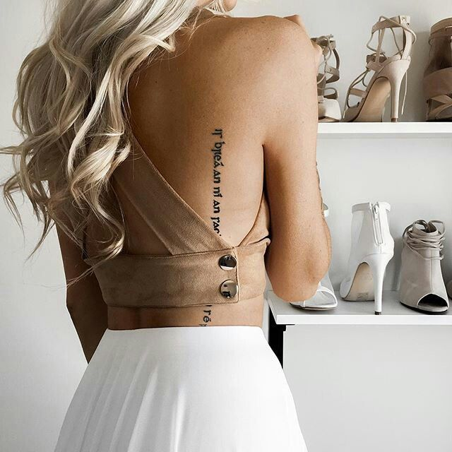Girly chic sensual 30 amazing outfit ideas to try for Side back tattoo