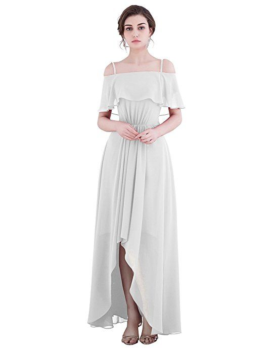 Amazon | Dresstell お呼ばれ 結婚式ドレス ブライズメイドドレス 紐付き ハイ・ロー フリル袖 シンプルシフォン 花嫁ワンピース 二次会ドレス ビスチェタイプ 発表会ドレス ブラック 9号 | ドレス 通販