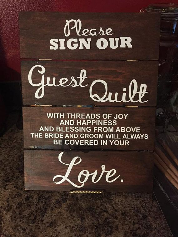 Wedding Guest Book Sign Please Sign our Wedding by HandKBoutique