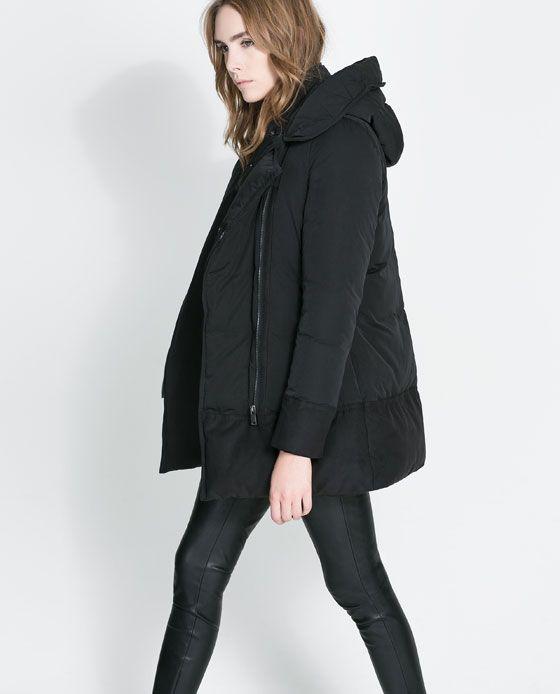 BLOUSON CONTRASTANT de Zara
