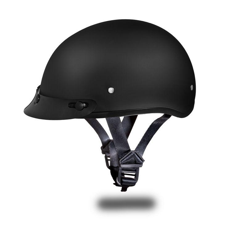 International Biker Mall  - D.O.T. DAYTONA SKULL CAP HELMET- DULL BLACK, $49.95 (http://www.internationalbikermall.com/d-o-t-daytona-skull-cap-helmet-dull-black/)