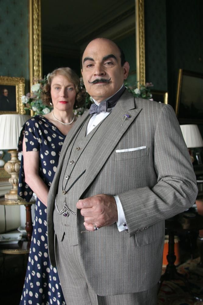 David Suchet as Hercule Poirot in Agatha Christie's 'After the Funeral'.