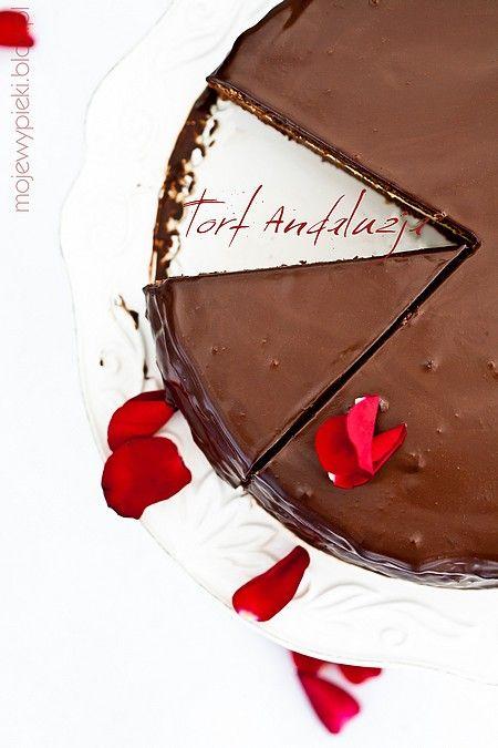 Tort Andaluzja - można wymienić masę z żelatyną na wegetariańską (patrz: komentarze)
