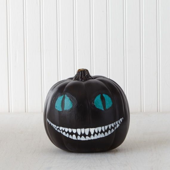 Painted Pumpkin Decor: Cheshire Cat