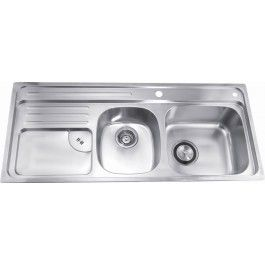 Dawn CH366 Drop In Double Bowl Stainless Kitchen Sink