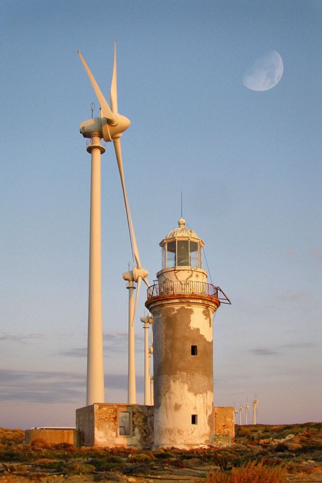 Lighthouse in Bozcaada (Tenedos), a Turkish Island in the Aegean