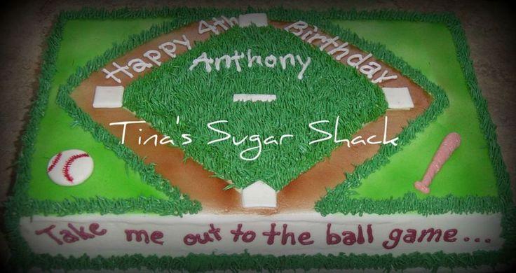 Baseball Birthday Cake  on Cake Central
