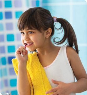 ASK THE EXPERT: The middle years. Q: I try to teach my 10-year-old to have good posture, but it doesn't always work. Why is good posture so important? Are there any health risks associated with bad posture?  Q: My child is 9 years old and her new permanent teeth have a yellowish tint to them. I make sure she brushes and she even uses whitening toothpaste sometimes. Is there something wrong or something else we can/should be doing?