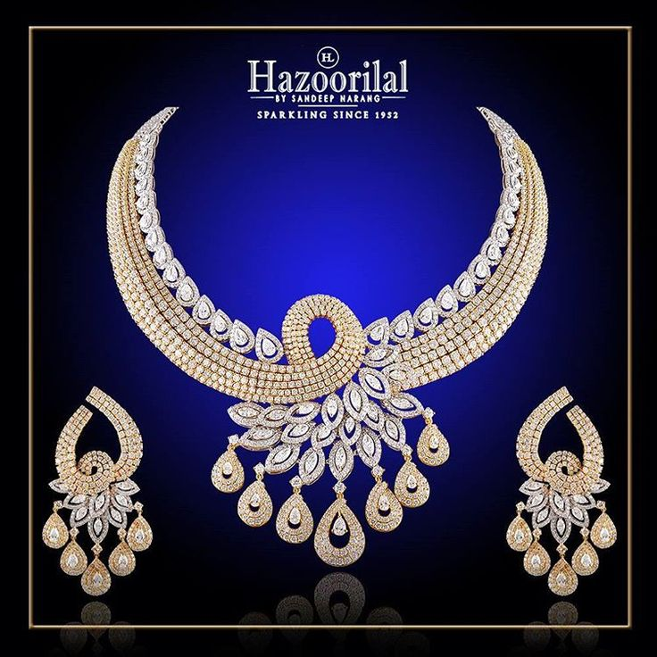 """""""Crafted with beautiful motifs and designs, this necklace set is sure to glam up…"""