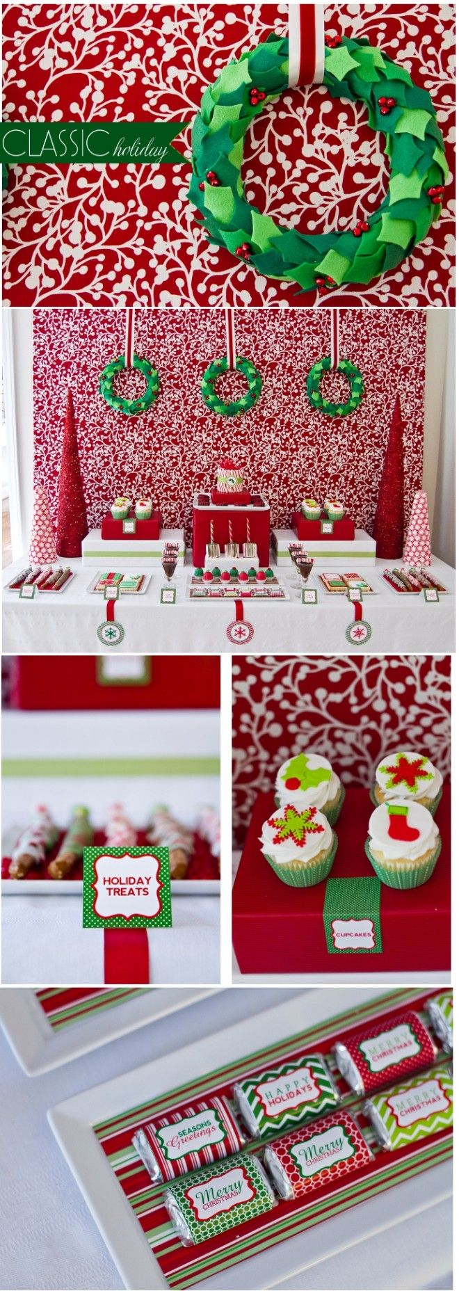 Christmas party buffet table decorations - Find This Pin And More On Adorable Dessert Buffet Tables