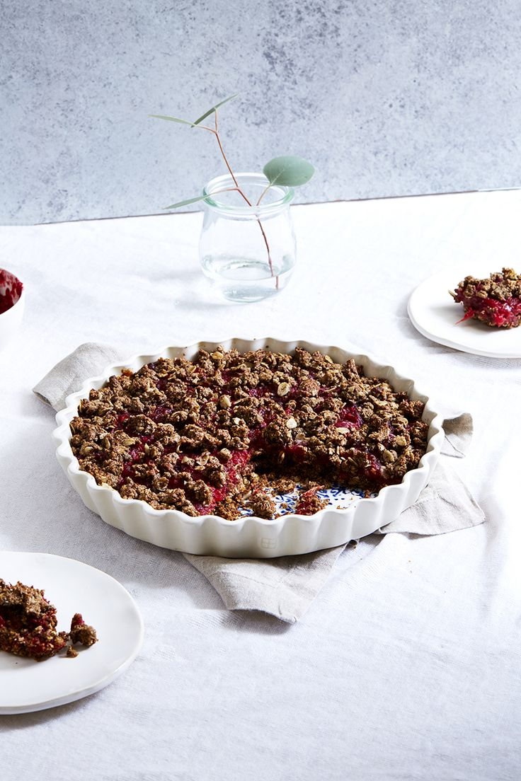 Cranberry Ginger Oat Crumble