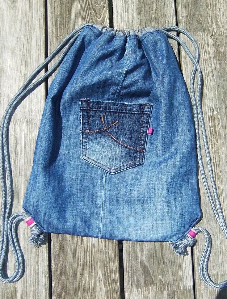 Jeans Turnbeutel DIY Upcycling #diyjeansupcycle – … – #DIY #diyjeansupcycle #j…