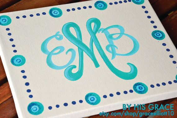 Monogram lovin'! Would be cool for a cutting board
