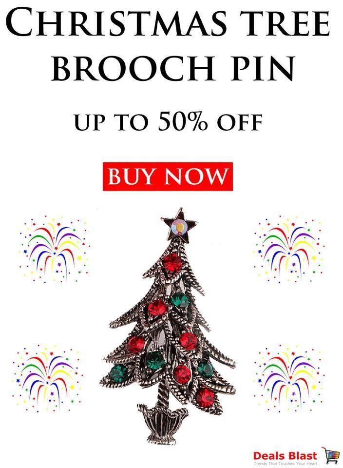 Christmas Tree Brooch Pin