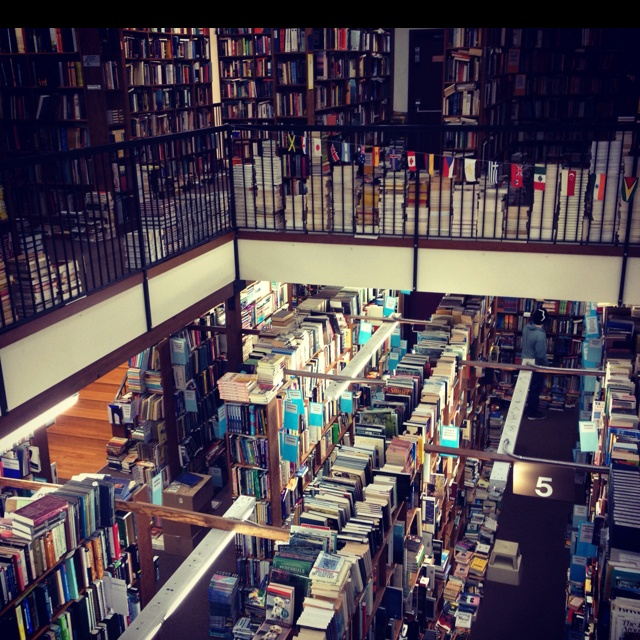 University of Oregon - Smith Family bookstore right off of campus on 13th. Books books books!