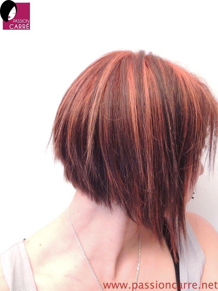 Carré plongeant, couleur cuivrée Haircuts Pinterest