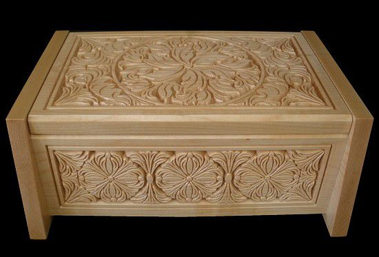 CNC Carved decorative box.