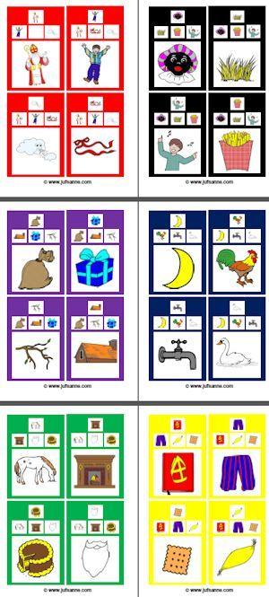 * Cadeautjesspel: Druk de plaatjes af en plastificeer ze. Dit spel is mogelijk voor een klas tot 30 kinderen